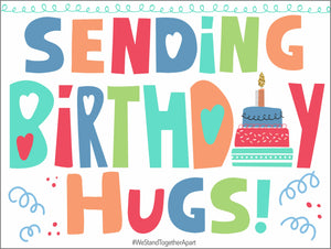"Birthday - Sending Hugs 24""x18"""