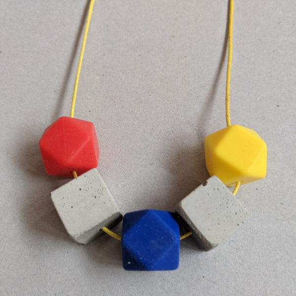 Primary colours necklace