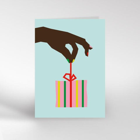 Hand & Present greeting card