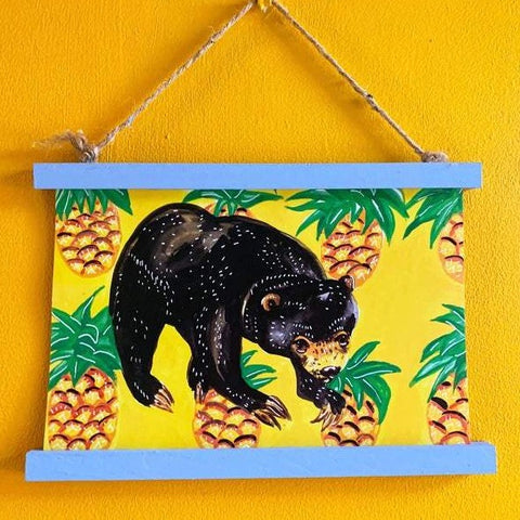 A4 Bear & pineapple print