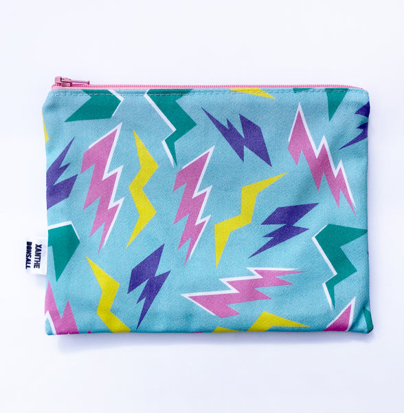 Medium lightening bolt accessories pouch