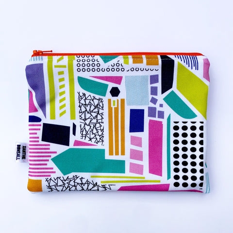 Collage print pouch