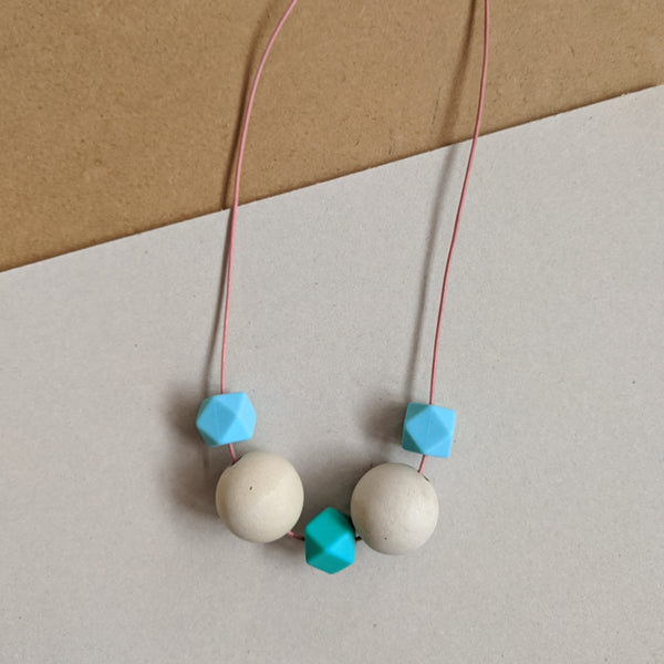 Chunky turquoise mix necklace