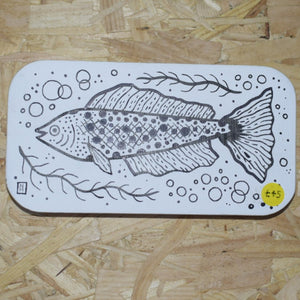 Woodblock fish illustration