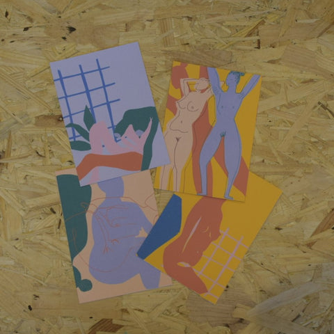 4 A6 nude postcards