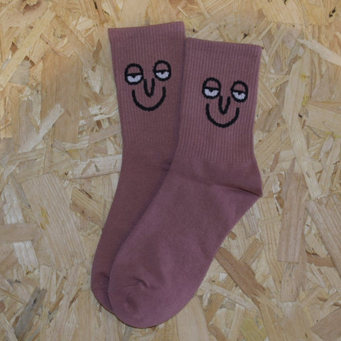 Sleepy face socks