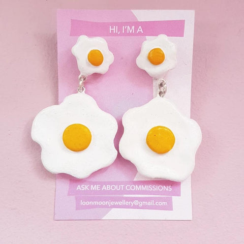 Double Fried egg dangles