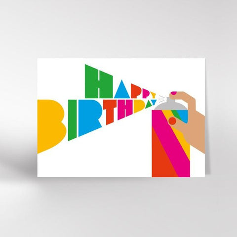 Happy birthday spray can card