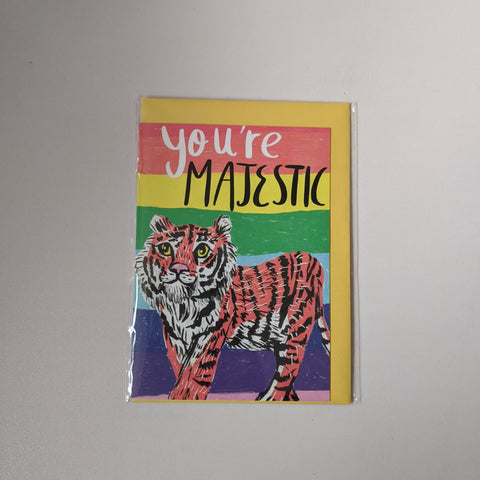 You're majestic card