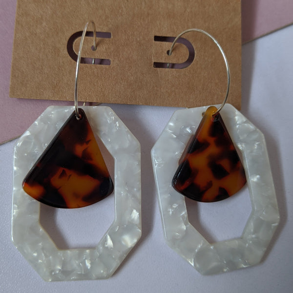 Octagon and triangle tortoise shell drops