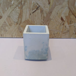 Blue effect concrete planter