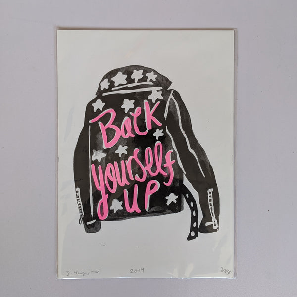 Back yourself up print