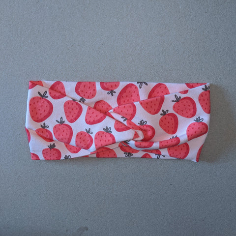 Strawberry print headband