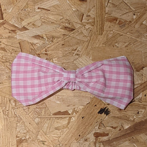 Children's Pink gingham headband