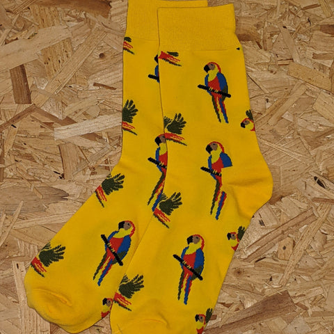 Yellow Parrot socks