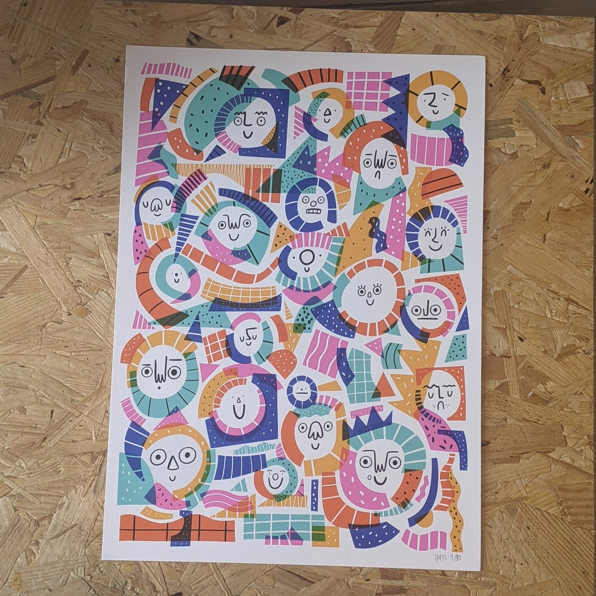 Mixed pattern face print