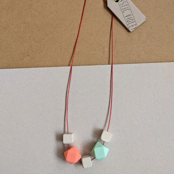 Pastel concrete mix necklace