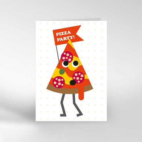 Pizza party greeting card