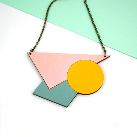 Square Circle Triangle Necklace