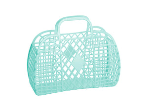 Large Retro Basket Bag
