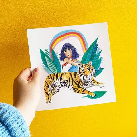 Tiger Girl square print