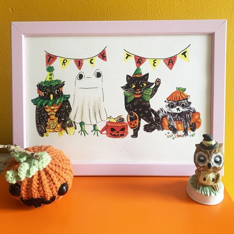 A4 trick or treat print