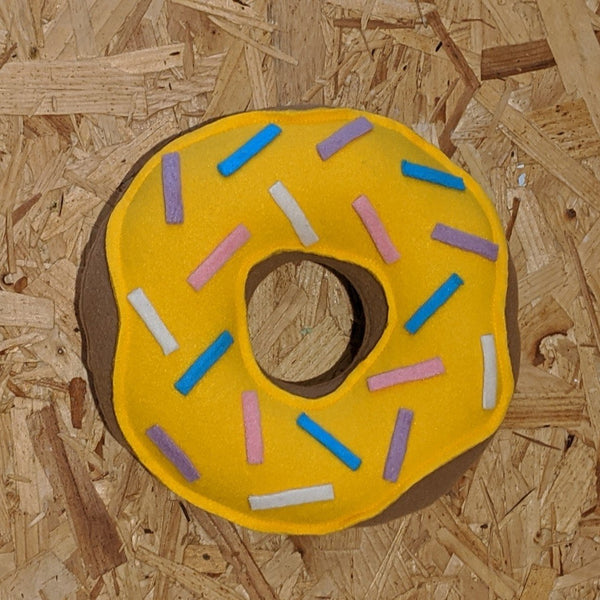 Yellow sprinkle donut