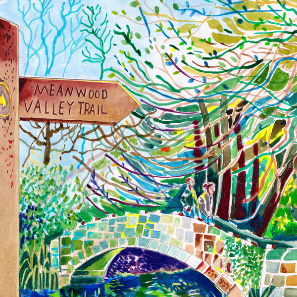 Meanwood valley trail art print
