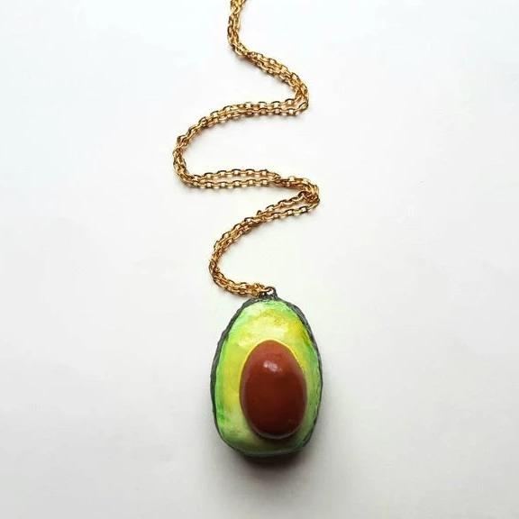 Sliced Avocado Necklace