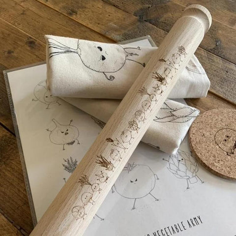 Furious Vegetable army Rolling Pin