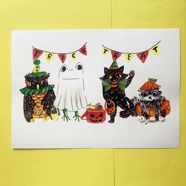 Trick or treat A4 print