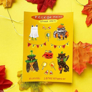 Trick & treat sticker sheet