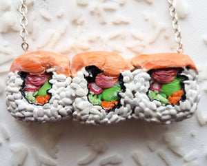 Salmon Sushi styled Necklace