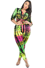 Load image into Gallery viewer, Plus Neon Tie-dye 2 Piece Legging Set