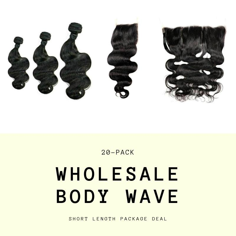Brazilian Body Wave Short Length Wholesale Package (MY Weave Styles)