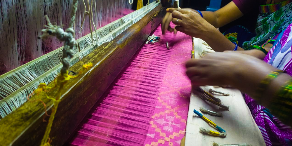 Uppada Sarees - Jamdani Weaving Technique