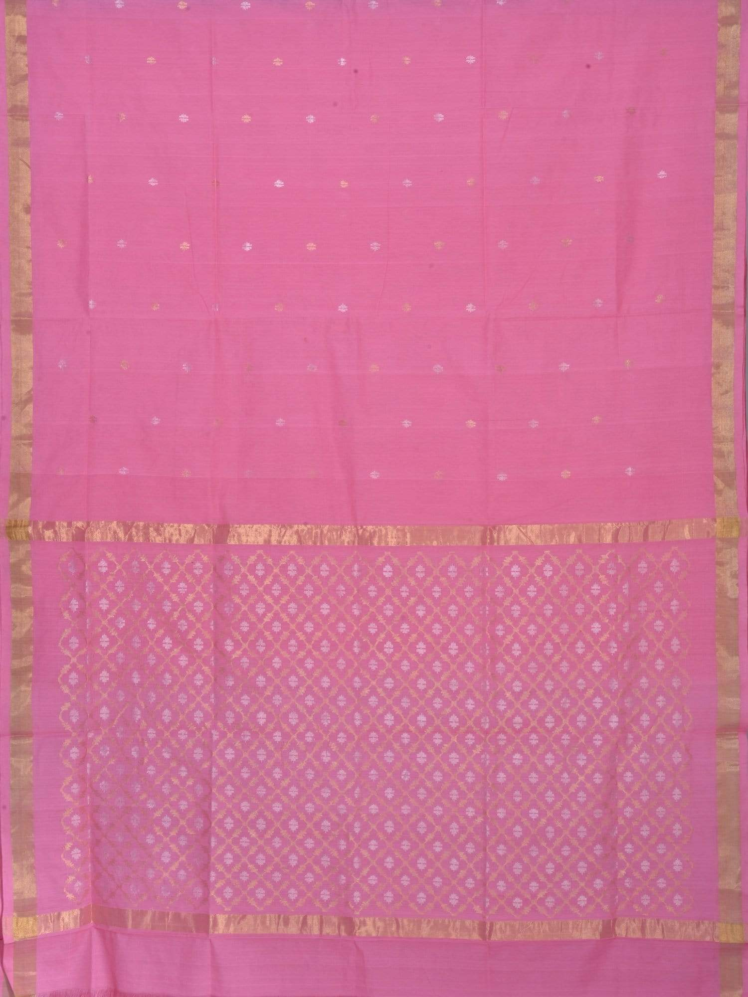 Baby Pink Uppada Cotton Handloom Saree with Jamdani Pallu Design U1428