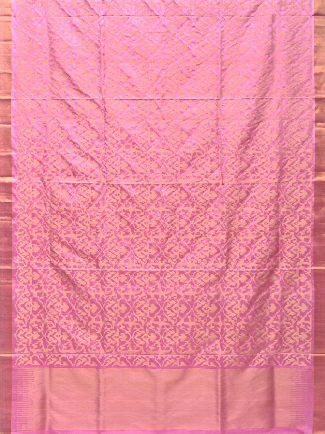 Baby Pink Uppada Silk Handloom Saree with All Over Jangla Design u1651