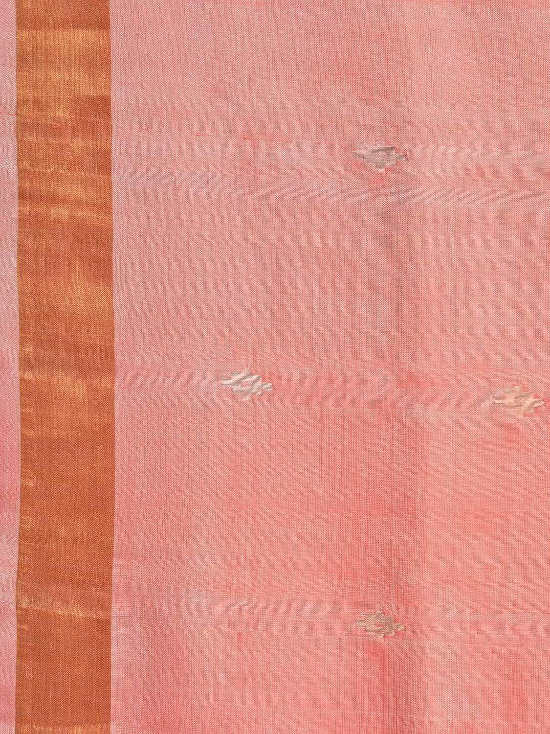 Baby Pink Uppada Silk Handloom Saree with Jamdani Pallu Design u1585
