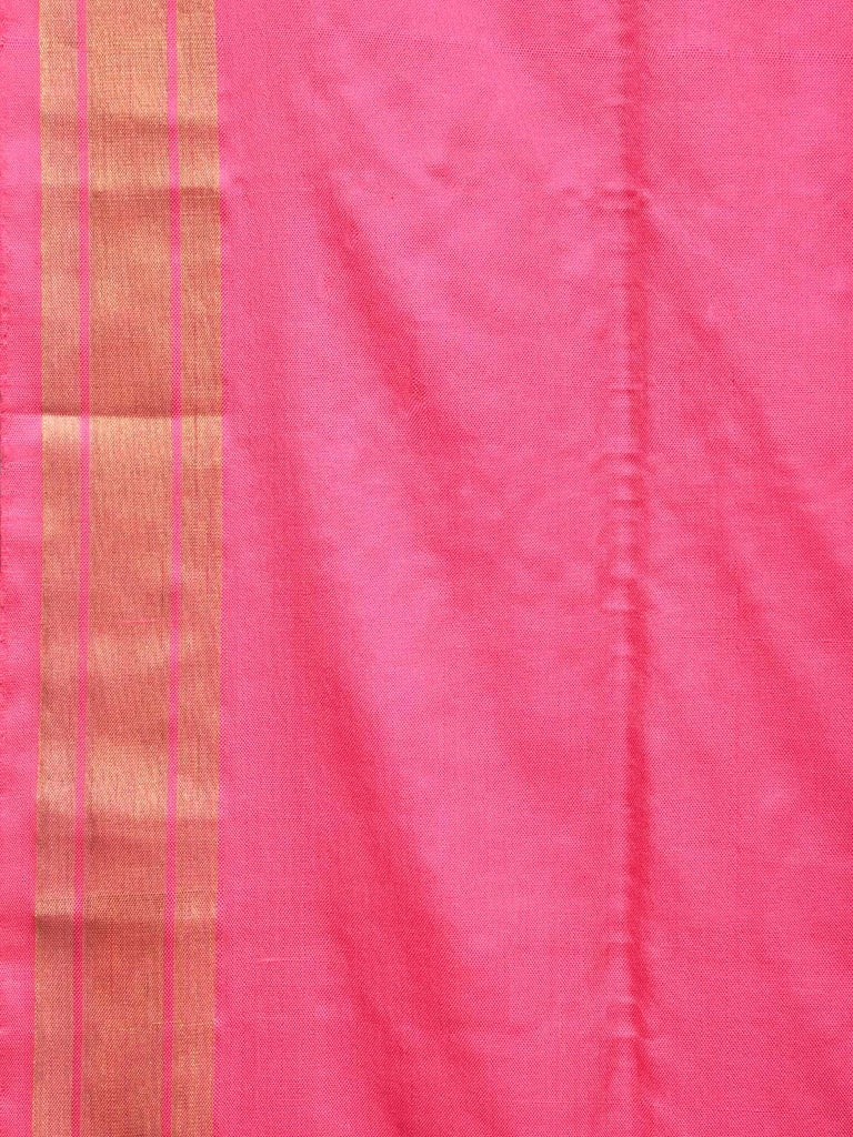 Baby Pink Uppada Silk Handloom Saree with Tree and Birds Pallu Design u1715