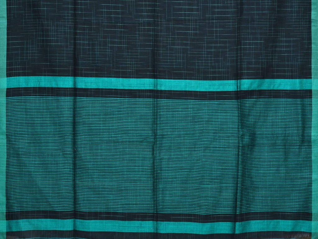 Black Organic Cotton Handloom Saree with Strips Design o0260