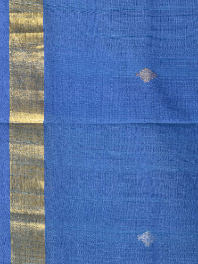 Blue Uppada Cotton Handloom Saree with Dhakai Jamdani Pallu Design u1668