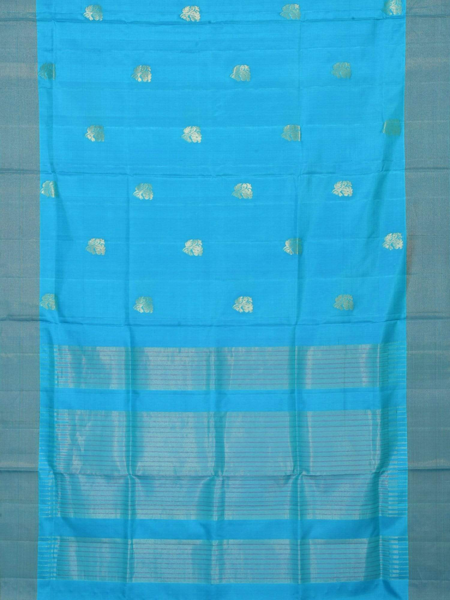 Blue Uppada Silk Handloom Saree with All Over Nilambari Buta Design u1414