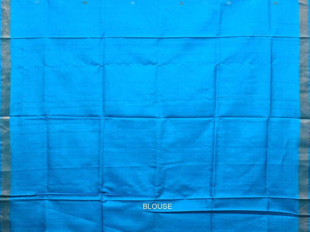 Blue Uppada Silk Handloom Saree with Assorted Buta Pallu Design u1739