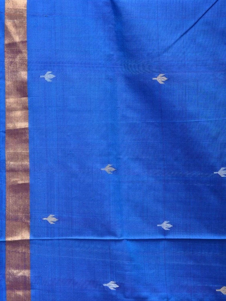 Blue Uppada Silk Handloom Saree with Jamdani Pallu Design u1688