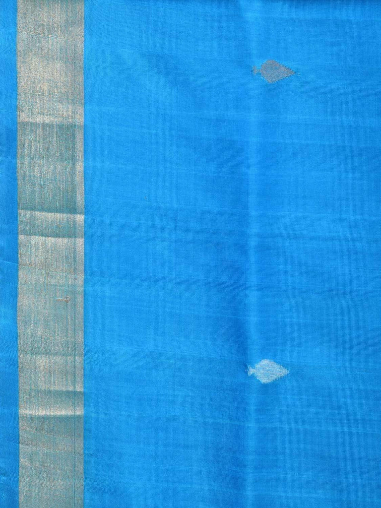 Blue Uppada Silk Handloom Saree with Jamdani Pallu Design u1699