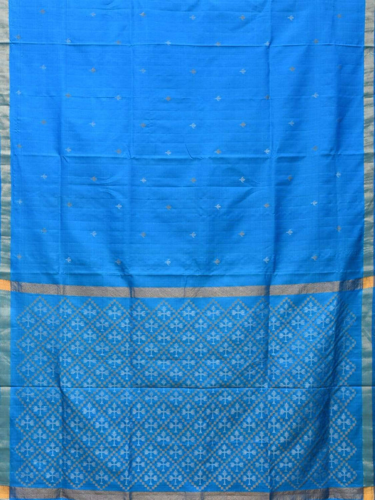 Blue Uppada Silk Handloom Saree with Jamdani Pallu Design u1717