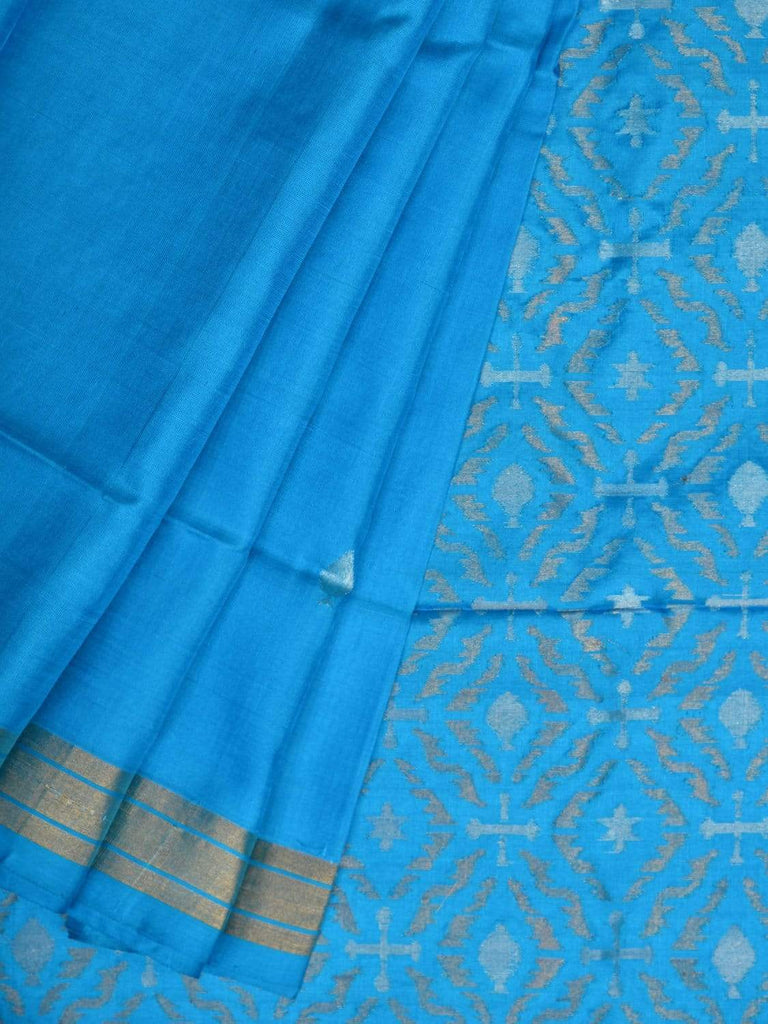 Blue Uppada Silk Handloom Saree with Jamdani Pallu Design u1719