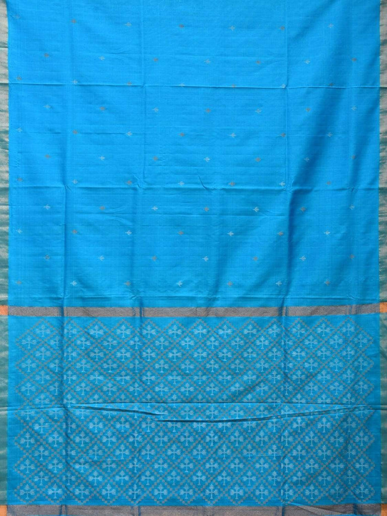 Blue Uppada Silk Handloom Saree with Jamdani Pallu Design u1741