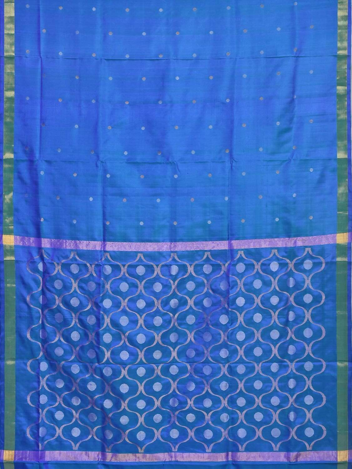 Blue Uppada Silk Handloom Saree with OG Pallu Design U1550